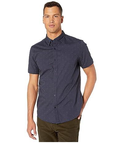Ben Sherman Short Sleeve Spot Squares Print Shirt (Dark Navy) Men