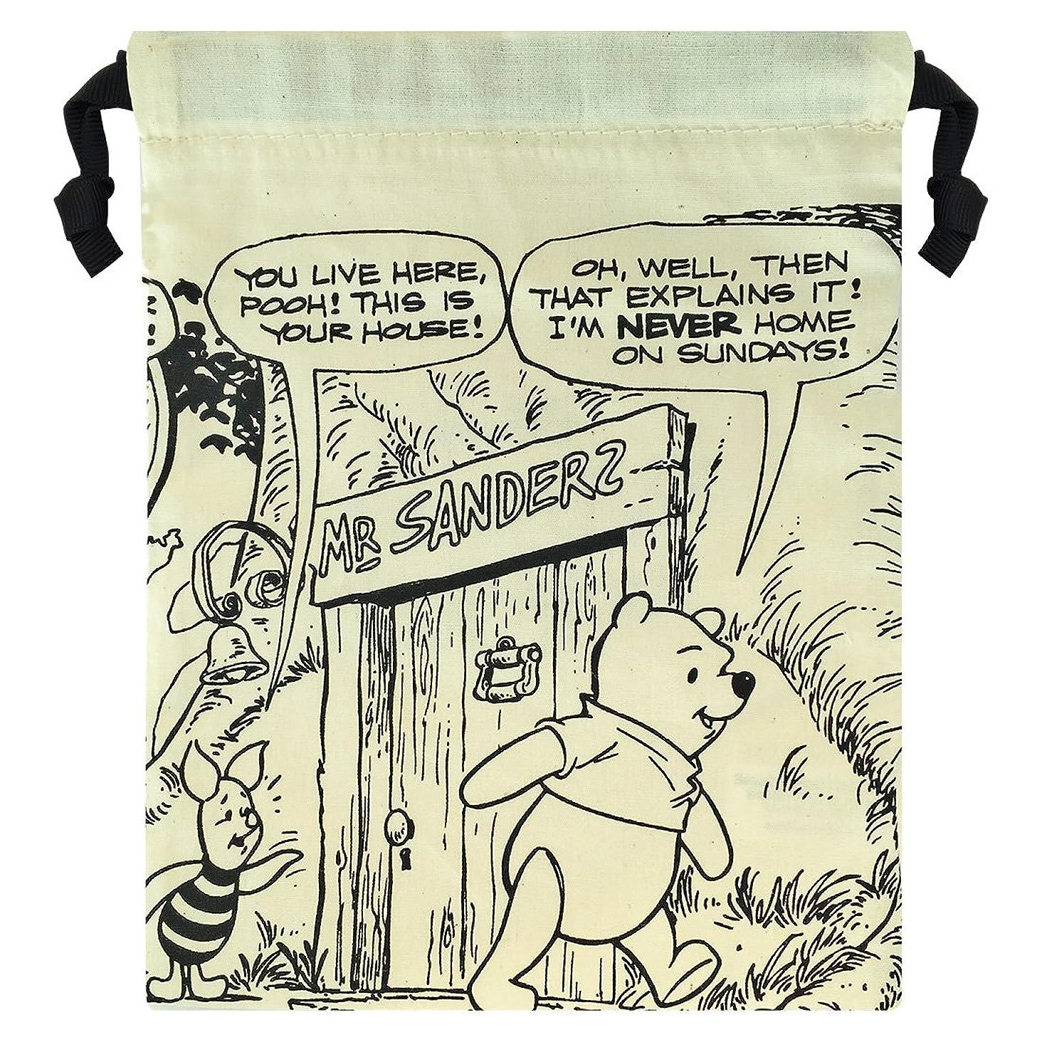封建魅了する承認するディズニー パレット巾着 プーとピグレット APDS3254