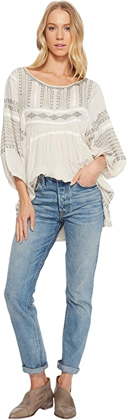 Free People - Wild One Embroidered Top