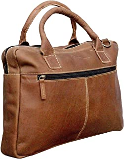 TUZECH Rustic Shopping Styled Handsome Buffalo Leather Bag Crafted Handbag Carry Bag -Fits Laptop Upto 15.6 Inches