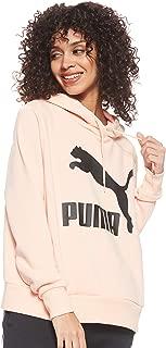 PUMA Women's Classics Logo Hoody Peach Parfait