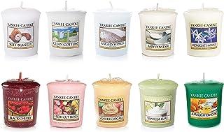Yankee Candle, formato ahorro con 10 velas aromáticas votivas, distintas fragancias