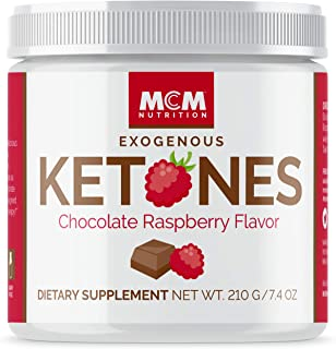 MCM Nutrition – Exogenous Ketones Supplement & BHB - Boosts Energy & Suppresses Appetite - Instant Keto Mix, Puts You into Ketosis Quick & Boosts The Keto Diet (Chocolate Raspberry - 15 Servings)