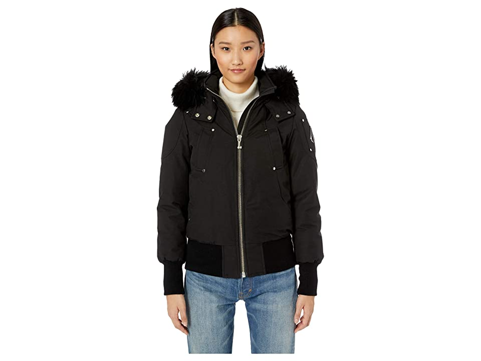 Moose Knuckles Shearling Debbie Bomber (Black/Black) Women