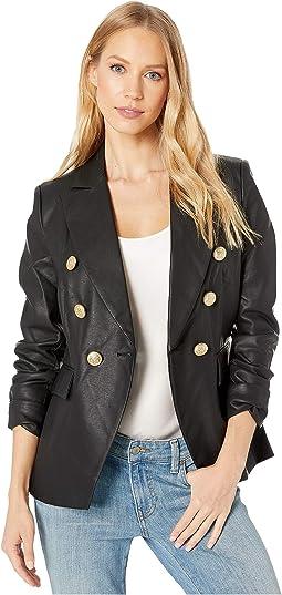 Nellie Faux Leather Blazer