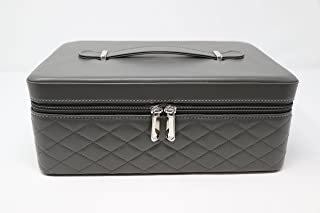 Essential Oil Carrying Case by Element Design - Large 42 Bottle Total Capacity - 32 Large Holes for 15ml Bottles & 10 Small Holes for 5ml Bottles & 10ml Rollers (Grey)