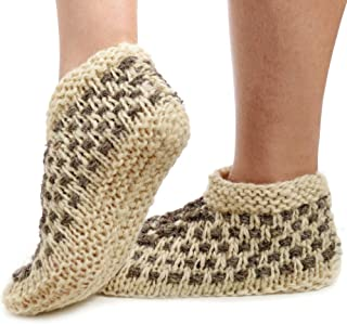 Wool Slippers for Women - These Unique, Handmade Bohemian Chic Slippers Will Keep Your Feet Warm and Comfortable Year Round - Super Cute and Cozy Hand Knitted House Socks
