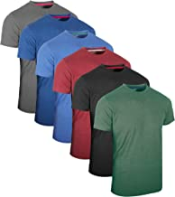 FULL TIME SPORTS® Tech 3 4 6 Pack Assorted Langarm-, Kurzarm Casual Top Multi Pack Rundhals Herren T-Shirts