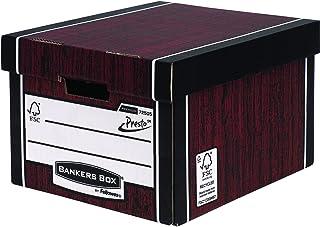 Fellowes Bankers Box Premium 725 Classic Storage Box - Woodgrain, Pack of 10