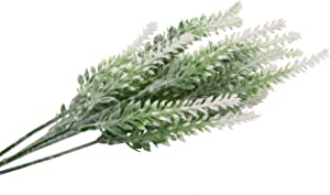 TYEERDEC Artificial Flowers 6 Bundles Lavender Bouquet for Wedding Home Office Decoration - White