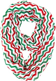 red green and white chevron