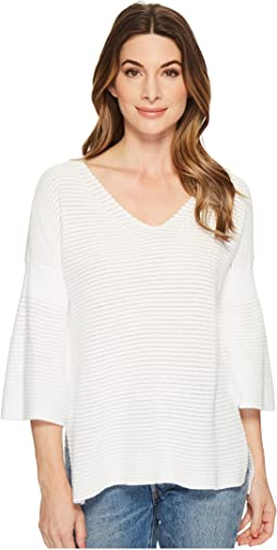 Michael Stars - Cotton Knits 3/4 Bell Sleeve Sweater