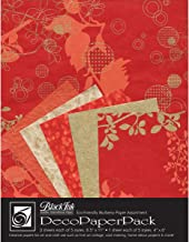 Black Ink DP-704 Decorative Paper Pack, Chinaberry - Red