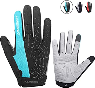 Cycling Gloves Men Women Bike Gloves Mountain Biking Gloves with Anti-Slip Shock-Absorbing Pad Breathable Half Finger Workout Gloves Riding Sports Road Bicycle Gloves
