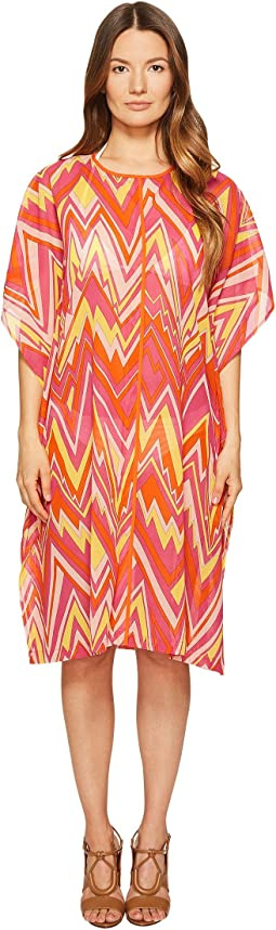 Retro Zigzag Cotton Voile Cover-Up