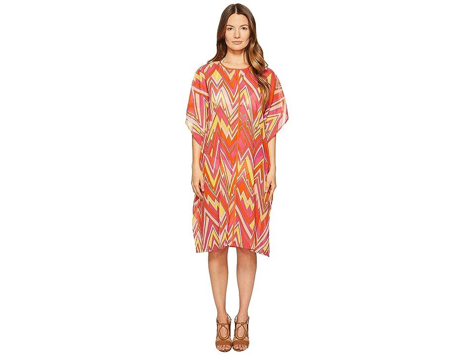 M Missoni Retro Zigzag Cotton Voile Cover-Up (Pink) Women