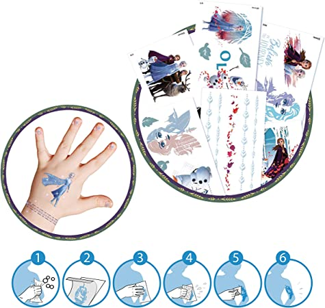 Crace Frozen 2 Tatouages Foilbag Beauty Set de tatouages tatouages pour doigts 22672 Plusieurs mod/èles