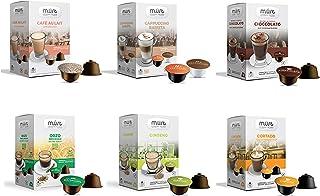 MUST Variety Pack Dégustation 96 Capsules Solubles, 6 Paquets de 16 Capsules Auto-Protégées Compatibles avec la Machine Ne...