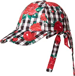Betsey Johnson - Gingham Rose Baseball Cap