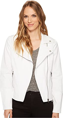Moto Zip Jacket in Four-Way Stretch Comfort Twill