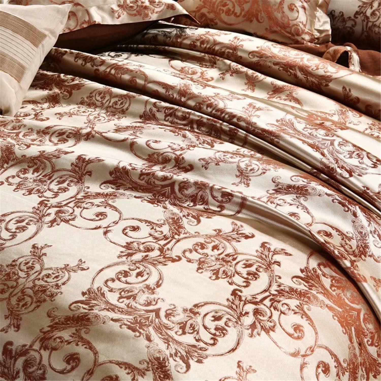 HellodayZ 3 Piece Bedding Sets Duvet Cover Solid Color,Wedding European Jacquard Duvet Cover6985 Soft Silk Microfiber,Zipper Closure and 4 Corner Ties,Comfortable and Soft Material Blue US Twin