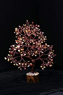 Zaicus Mookaite Jasper Copper Wire Gemstone Tree Feng Shui Bonsai Money Tree for Crystal Healing Energy Generator Spiritua...