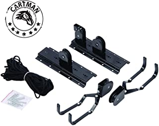 CARTMAN Garage Utility Ceiling-Mounted Bike Lift, Mountain Bicycle Hoist, 1 Set ~ 2 Sets for Option (1 Set)