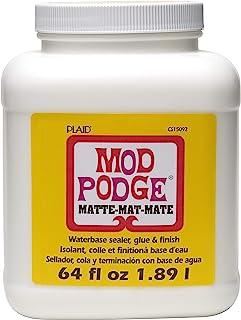 Mod Podge CS15092 Waterbase Sealer, Glue & Decoupage Finish, 64 oz, Matte