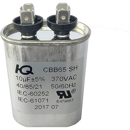 A Smith Run Capacitor 7.5 MFD O 2 x 2-5//8 Oval 370v