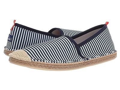 Sea Star Beachwear Beachcomber Espadrille Water Shoe (Navy/White Microstripe) Men