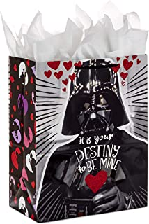 Hallmark Large Star Wars Valentine's Day Gift Bag with Tissue Paper (Darth Vader Destiny)
