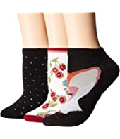 Kate Spade New York - Fox 3-Pack No Show Socks