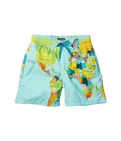 Vilebrequin Kids World Map Sonar Jimmy Swim Trunks (Toddler/Little Kids/Big Kids)