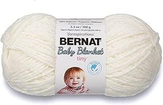 Bernat Baby Blanket Tiny Yarn, 3.5 oz, Gauge 4 Medium, Polar Bear