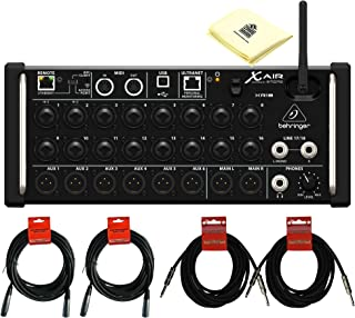 Behringer X Air XR18 18-Channel 12-Bus Digital Mixer for iPad Android Tablets with 16 Programmable MIDAS Preamps, Integrated Wifi Module & Multi-Channel USB Audio Interface Package with 4 Senor Cable