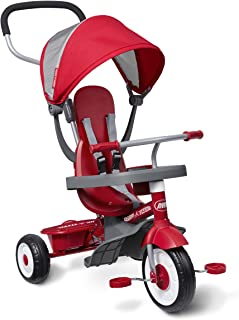 "Radio Flyer 4-in-1 Stroll 'N Trike, Red Toddler Tricycle for Ages 1 Year -5 Years, 19.88"" x 35.04"" x 40.75"""