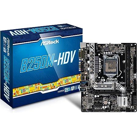 ASRock B250M-HDV LGA1151/ Intel B250/ DDR4/ SATA3&USB3.0/ M.2/ A&GbE/ MicroATX Motherboard