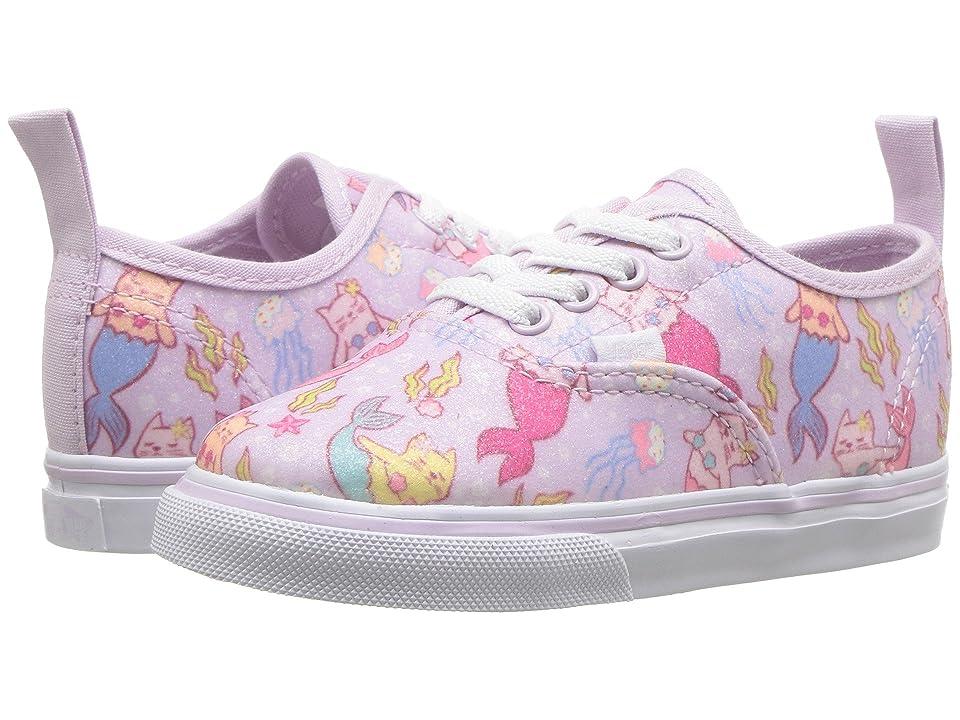 Vans Kids Authentic Elastic Lace (Infant/Toddler) ((Purrrmaids) Lavender Fog/True White) Girls Shoes