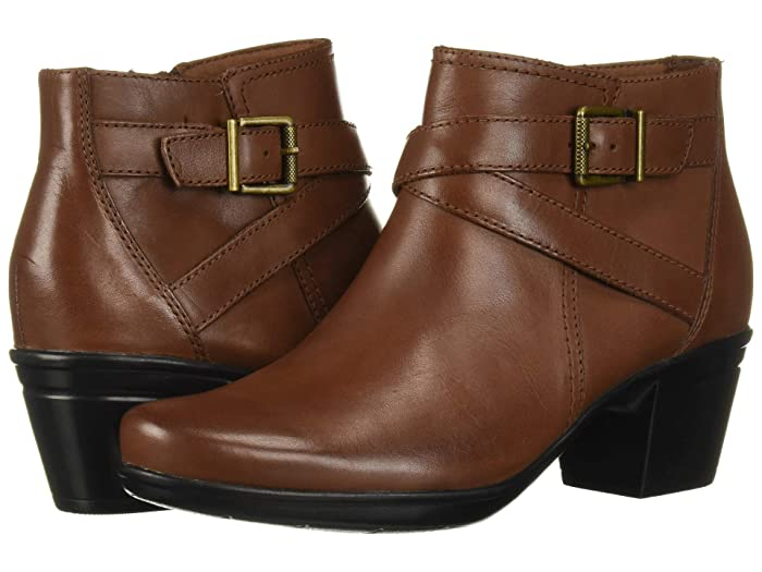 Clarks  Emslie Cyndi (Mahogany Leather) Womens  Boots