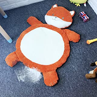 Lzttyee Cartoon Plush Stuffed Animals Kids Playing Mats Floor Cushion Game Rugs Crawling Mat Toy for Sleeping Afternoon Nap (Fox)