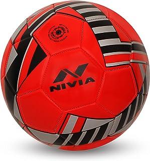 كرة قدم بتصميم بلايد 1021YL مخيطة اليًا من نيفيا (مقاس 5 احمر)