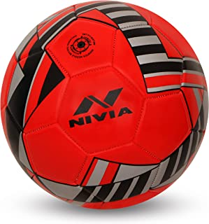 NIVIA - - Step Out & Play Blade Machine Stitched Football (Red)
