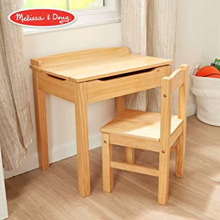 "Melissa & Doug Child's Lift-Top Desk & Chair (Kids Furniture, Honey, 2 Pieces, 16.1"" H x 23.6"" W x 23.2"" L)"