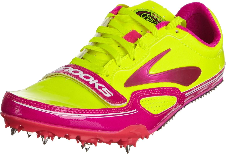 Brooks Womens PR Sprint 11.38 Track Spikes Pink Glow Nightlife Anthracite