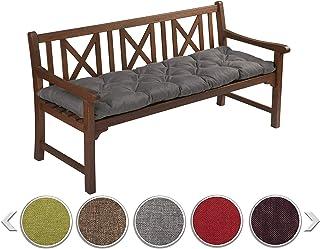 sunnypillow Coussin matelassé pour Banc de Jardin 100 x 50 cm plusieures Tailles et Couleurs à Choisir Assise Confortable ...