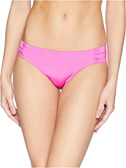 Trina Turk Studio Solids Shirred Side Hipster Bikini Bottom