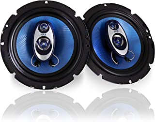 Pyle 6.5'' Three Way Sound Speaker System - Round Shaped Pro Full Range Triaxial Loud Audio 360 Watt Per Pair w/ 4 Ohm Imp...