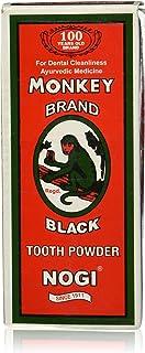 Monkey Brand Black Tooth Powder Nogi Ayurvedic New in box 100 Grams by Monkey Brand