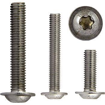 10 viti a testa bombata M3 X 3 fino a M12 X 120 con esagono incassato e flangia ISO 7380 in acciaio inox A2