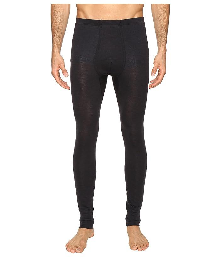 Hanro Woolen Silk Long Underwear (Anthracite) Men